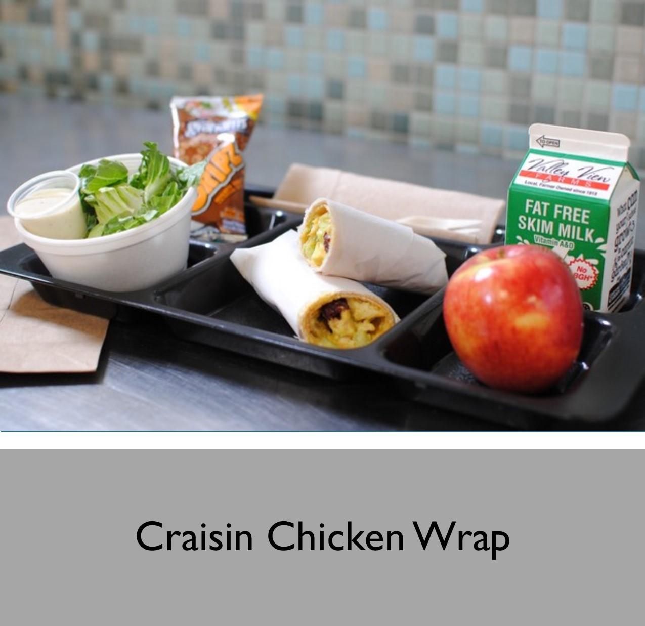 Craisin Chicken Wrap