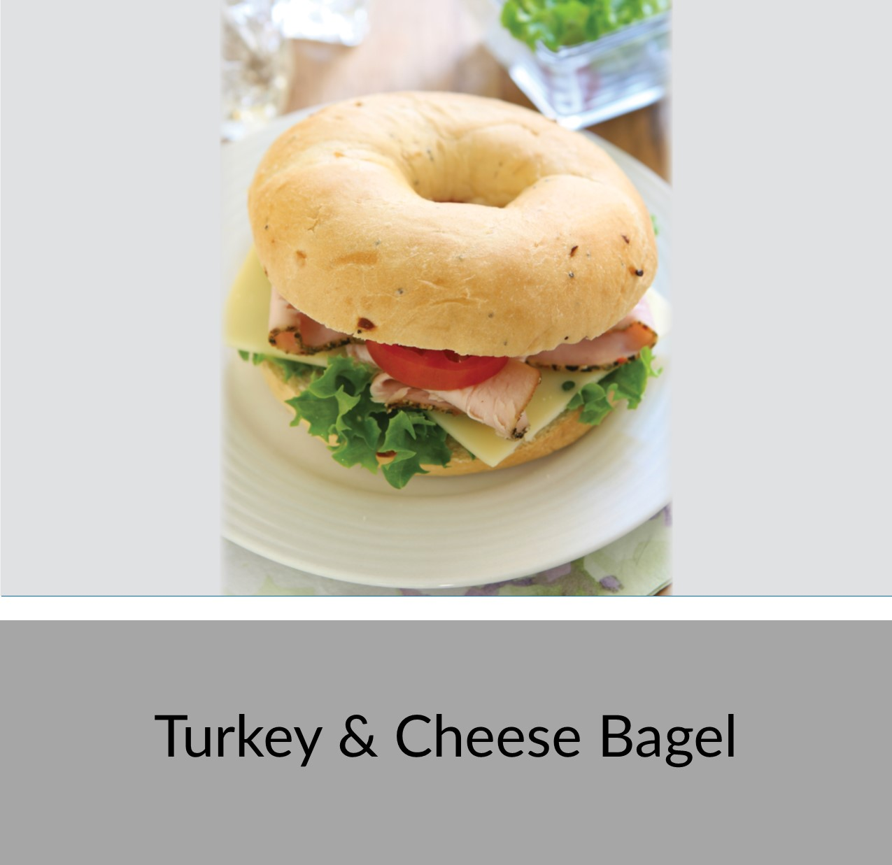 Turkey and Cheese Bagel Sandwich